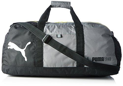 PUMA, Borsone sportiva Fundamentals Bag M, Grigio (Steel Gray), 61 x 29 x 31,5 cm