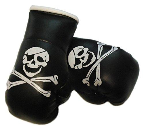 Sportfanshop24 Mini Boxhandschuhe Totenkopf/Pirat/Skull, 1 Paar (2 Stück) Miniboxhandschuhe z. B. für Auto-Innenspiegel