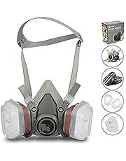 RSM bescherming halfmasker voor verfspatten, stof, bescherming van geurvermindering voor sproei-, sanering, lak- en slijpwerkzaamheden grijs