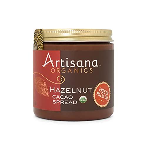 Artisana Organics Hazelnut Cacao Spread, 9.5 oz | No Palm Oil, Sweetened with Coconut Sugar