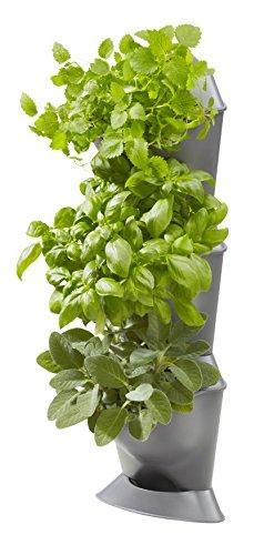 Gardena NatureUp! Basis Set Ecke: 3Eck-Pflanzbehälter passend zu den vertikalen Pflanzenbehältern, zur Begrünung von Balkon/Innenhof, automatische Bewässerung möglich, einfaches Stecksystem (13153-20)