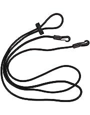 Zchui Cuerda de entrenamiento para caballos de 3 m con correa elástica para el cuello, de nailon, ajustable, herramienta de ayuda para el entrenamiento cómodo