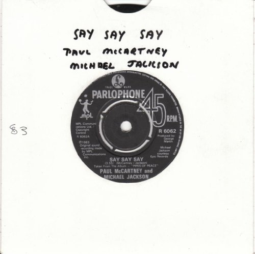 PAUL McCARTNEY & MICHAEL JACKSON Say Say Say 12'