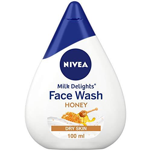 NIVEA Face Wash, Milk Delights Moisturizing Honey, Dry Skin, 100ml