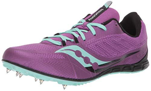 Saucony Women#039s Vendetta 3 Track Shoes PUR/AQU 8M