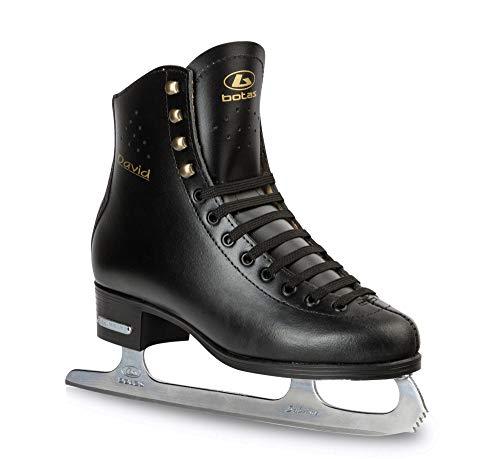 Botas - Classic Cuff/Figure Ice Skates for Men, Boys/Color: Black, Size: Adult 10.5