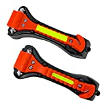 Segomo Tools 2 x Emergency Escape Safety Hammers with Car Window Breaker & Seat Belt Cutter - ESHM02