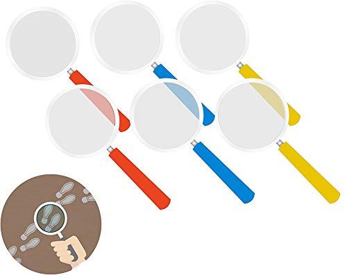 TK Gruppe Timo Klingler 12x Lupen Ø 8 cm als Mitgebsel Kindergeburtstag für Kinder Detektiv für Jungen und Mädchen