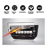 RUIYA Protector de Pantalla de Vidrio Templado para 2017 2018 Seat Ibiza Seat Media System Plus Sistema de navegación, película Protectora Crystal Clear HD, Resistente a los arañazos [8 Pulgadas]
