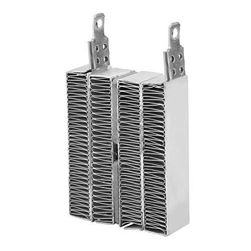 Keenso 12V / 24V Aluminio Carcasa Temperatura constante PTC Ondulación Placa de calentamiento Termistores Calentador, Elemento del calentador AC DC Sin línea(12V 70W)