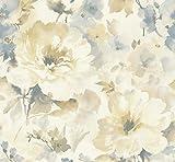 Floral Wallpaper Victorian Wallpaper Vintage Style Wallpaper Rose Wallpaper Vintage Flower Wallpaper Metallic Wallpaper Shimmer Wallpaper Designer Wallpaper (Bronze Cream Silver)