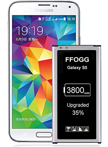 Galaxy S5 Battery,FFOGG Upgraded 3800mAh Li-ion Replacement Battery for Samsung Galaxy S5 [ I9600, G900F, G900V (Verizon), G900T (T-Mobile), G900A (AT&T),G900P(Sprint)]