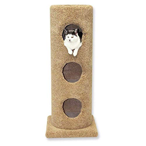 Beatrise Pet Furniture 3 Story Carpeted Cat Condo Tower House Tree Post w/Base
