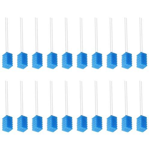 SUPVOX 250pcs éponge écouvillon jetables tampons buccaux dent portable nettoyage bouche bâtons de soins buccaux (bleu)