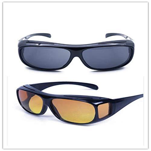 HD Wrap Around Polarisiertes Nachtsichtgerät für über Nacht fahrende Brillen Erhellen Sie Ihren visuellen UV-Schutz von 100{e6104124b4c0545e5654f15c19b281a80701e1788892106e8eb93a429b2b0bc0} für Frauen und Männer