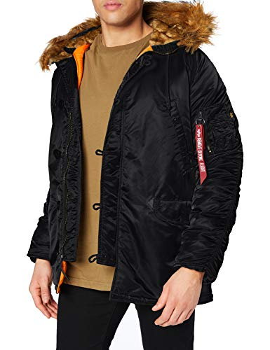ALPHA INDUSTRIES Herren N3B VF 59 Mantel, Schwarz (Black 03), Medium