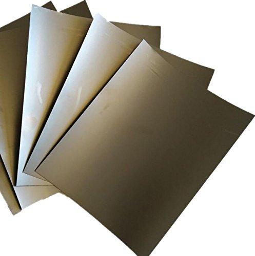 5pcs 0.4mm x 200mm x 250mm 99.5% Graphite Flexible Foil Gasket Sheet