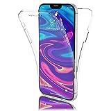 NALIA 360 Grad Hülle kompatibel mit iPhone 12/12 Pro Hülle, Transparente Silikon Handyhülle Durchsichtige Schutzhülle Dünn, Cover Handy-Tasche Komplett-Schutz und Bildschirmschutz Klar - Transparent
