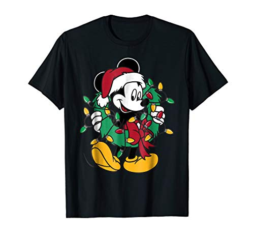 Disney Mickey Mouse Christmas Lights T-Shirt