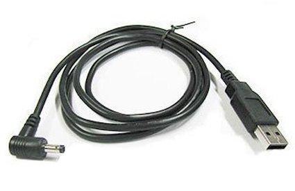 カモン 【(COMON)製】USB(A)←→DCジャック(直角/外径:4.0φ/内径:1.7φ)/黒/1.2m【DC-4017A】