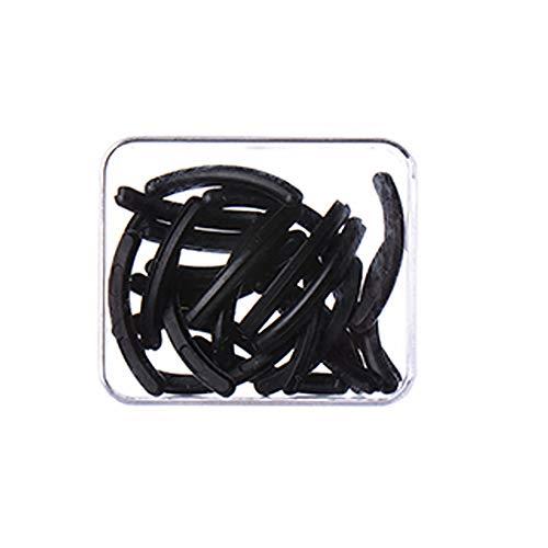 1 boîte de 24 pièces de rechange en caoutchouc élastique noir pour bigoudis cils universel