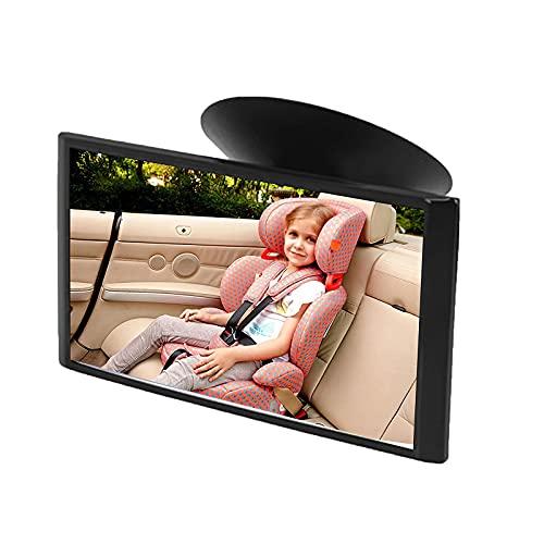 Bebé De Coches Backseat Mirror con La Base De Succión Conveniente Vista Posterior Frente Al Asiento Trasero Espejo De Seguridad para Niños Vista Posterior