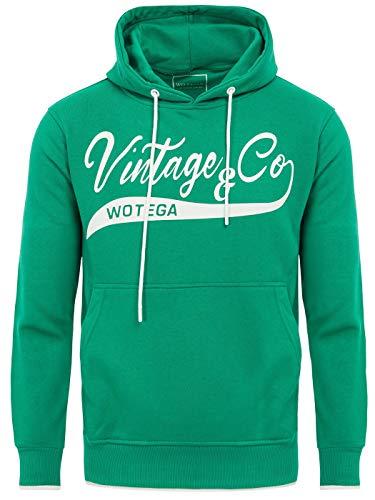 WOTEGA Hoodie Herren Kapuzenpullover Herren WT Star - Hoodies Kapuzen Pullover grüner Männer Sweatshirt, Grün (Jelly Bean 176030), L