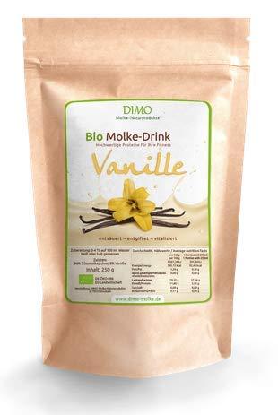 BIO Molke Drink Vanille- 250 g - BIO Trinkmolke Vanille mit Inulin