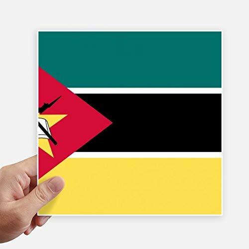DIYthinker Mozambiquenational Drapeau Afrique Country Square Autocollants 20CM Mur Valise pour Ordinateur Portable Motobike Decal 4Pcs 20Cm X 20Cm Multicolor