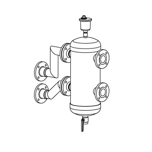 Kit botella de equilibrio para caldera a gas de condensación, caudal máximo de 18 m3/h, conexión DN 65, 35 x 35 x 80 centímetros (Referencia: 140040409)