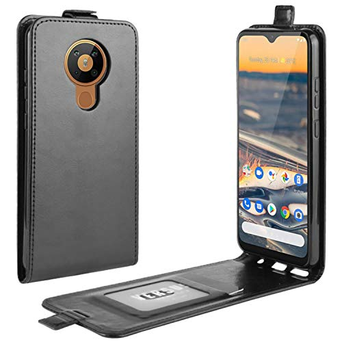 HualuBro Nokia 5.3 Hülle, Premium PU Leder Brieftasche Schutzhülle HandyHülle [Magnetic Closure] Handytasche Flip Hülle Cover für Nokia 5.3 Tasche (Schwarz)
