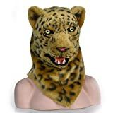 ZUAN Leopard-Kopfmaske-Jaguar-Kopfbedeckung