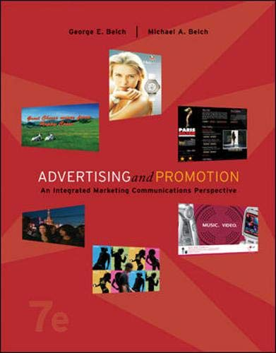 Compare Textbook Prices for Advertising and Promotion: An Integrated Marketing Communications Perspective w/ Premium Content Card 7 Edition ISBN 9780073255965 by Belch,George,Belch,Michael