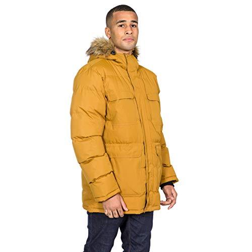 Trespass Baldwin - Chaqueta de invierno acolchada con capucha para hombre, Hombre, Chaqueta con capucha, MAJKCAN20004_GDBL, marrón dorado, L