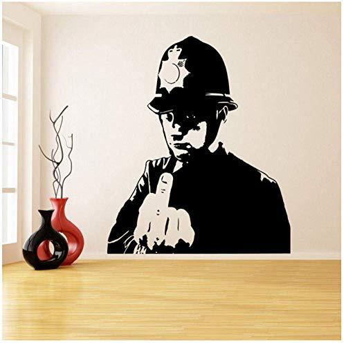 Ein Mann Mit Einem Schutzhelm Daumen Hoch Wandaufkleber Für Wohnzimmer Polizei Mittelfinger Raumdekor Wandbilder Tapete Dekoration56X66Cm
