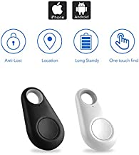 [2020 Updated] Key Finder, Bluetooth Tracker Phone Finder with Item Anti-Lost Locator Bidirectional Alarm Reminder for Phone, Keychain, Wallet, Luggage, Battery Replaceable (Black & White)