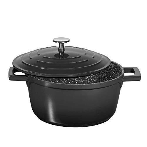 STONELINE® Minibräter 20 cm, mit Aluguss-Deckel, schwarz