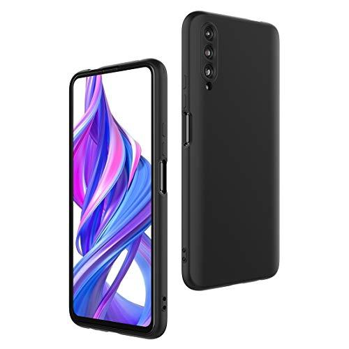 CRESEE für Huawei P Smart Pro/Honor 9X Pro Hülle Hülle, Silikon Handyhülle mit Faser-Futter Anti-Scratch Dünn Schutzhülle Stoßfest Fall für P Smart Pro/Honor 9X Pro (Schwarz)