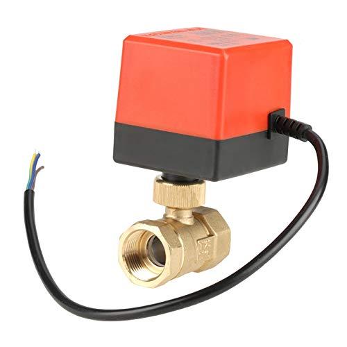 Válvula de bola motorizada, G3 / 4'Válvula de bola eléctrica de latón de 2 vías, CC 24 V 3 cables