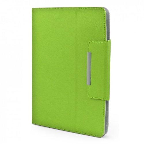 ROYALZ Hülle für Medion LifeTab X10607 (MD 60658) Tasche (10.1 Zoll) Schutz Hülle Cover Schutzhülle Schutztasche mit Aufsteller in hochwertiger Leder-Optik, Farbe:Grün
