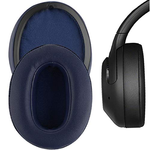 Geekria QuickFit Protein Leather Ear Pads for Sony WH-XB900N Headphones, Replacement Ear Cushion/Ear Cups/Ear Cover, Headset Earpads Repair Parts (Blue)