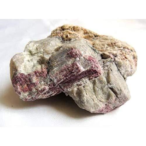 Piedra bruta, turmalina Rubellite sobre angue, para coleccionistas.