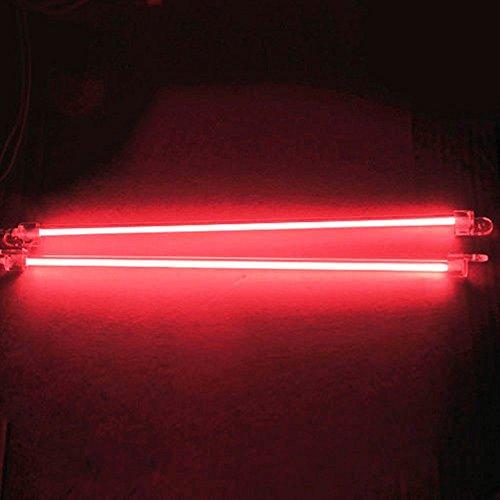 Mintice&Trade; 30cm KFZ Unterboden Innenbeleuchtung Fußraumbeleuchtung Neonröhren Licht Kaltkathoden Rot CCFL