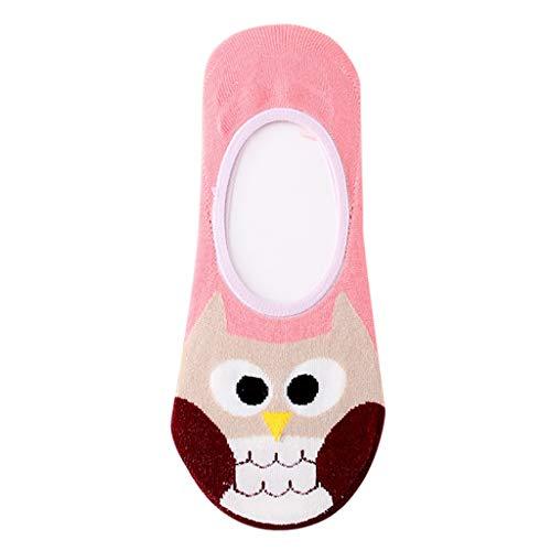 ZEELIY Sommer beliebt Kurzer Absatz Socke Hausschuhsocken mit Rutschfester Damen Comic-Tiere Socken weibliche Socken Baumwolle