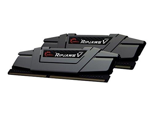 Gskill F4-3200C16D-16GVGB Memory D4 3200 16GB C16 RipV K2 2X 8GB, 1,35V, RipjawsV grau