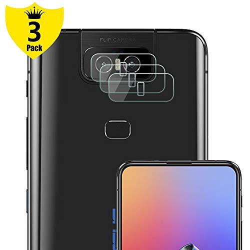 NUPO [3 Stück Kamera Linse Schutzfolie für ASUS Zenfone 6 ZS630KL, Kein Glas Objektiv Bildschirmschutzfolie, Ultra dünn HD Kratzfest Film biegsame Kunststofffolie Folie für Zenfone6 ZS630KL