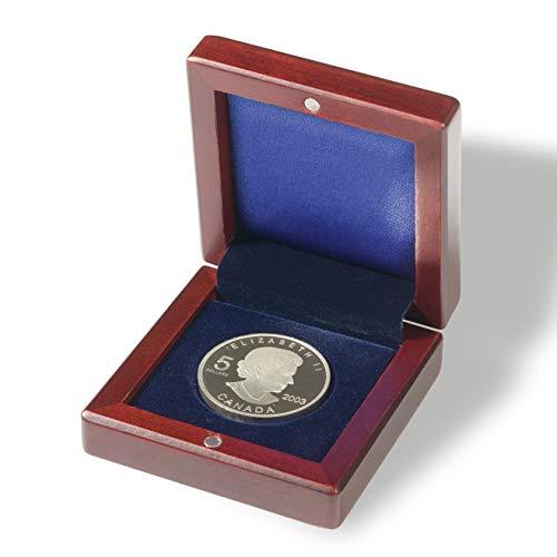 Leuchtturm 309490 Münzetui VOLTERRA mit runder Facheinteilung | Für 1 Münze bis 41 mm Ø | mahagonifarben