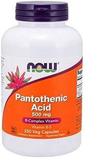 Now Pantothenic Acid (Vitamin B-5) - 500 Mg 250 Capsules