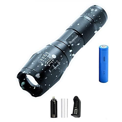 ykw Linterna Led 5000LM Antorcha Impermeable Ultra Brillante T6 / L2 / V6 Luces de Camping 5 Modos Linterna de luz con Zoom