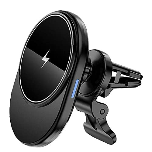 Soporte para teléfono inalámbrico cargador de coche 15W rápido del cargador del coche del sensor automático de montaje de la salida Compatible con iPhone 12 Más protección de seguridad múltiple